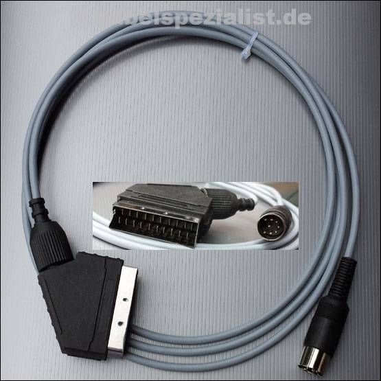 Commodore C64 / C128 Kabel an LCD/LED/Plasma TV SCART (S-Video, Y/C) HighQuality